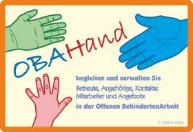 Mit OBAHand begleiten und verwalten Sie Betreute, Angehörige, Kontakte, Mitarebiter und Angebote in der Offenen Behindertenarbeit